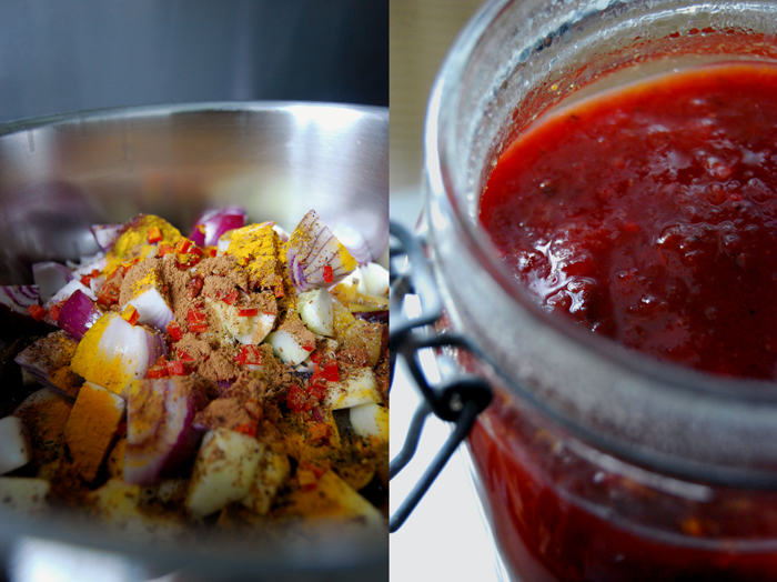 Spicy Plum Chutney