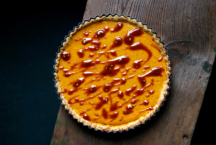 Pumpkin Pie with Coriander Caramel