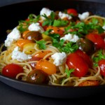 Spicy Cumin Fennel Spaghetti with Tomatoes and Lemon