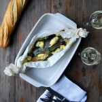 Arctic Char al Cartoccio with Artichokes and Olives