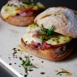 Raclette, Ham and Rosemary Sandwich