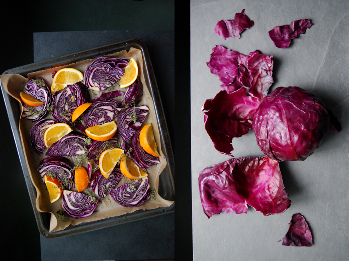 Roasted Red Cabbage with Orange