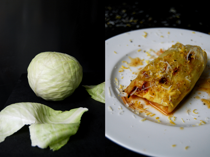 Ginger Lemon Ricotta stuffed Cabbage