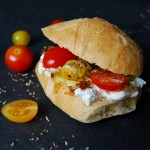 Tomato, Leek and Oregano Cream Cheese Sandwich