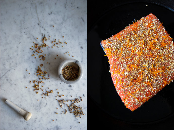 Salmon with Spice and Orange Crust