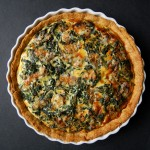Spinach and Gorgonzola Quiche