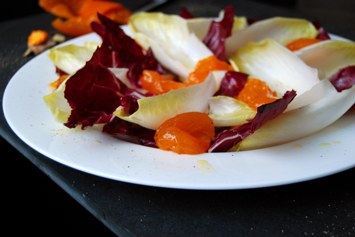 Endive, Radicchio and Persimmons Salad