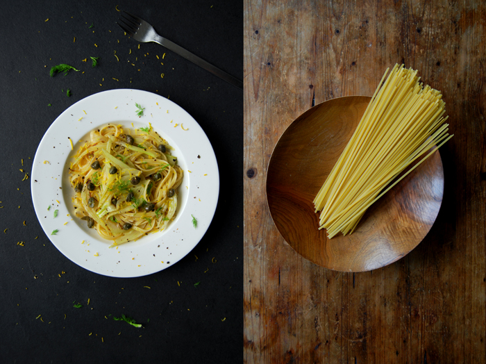 Linguine with Fennel, Capers and Lemon