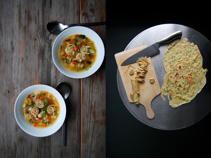 Maltese Minestrone with Tyrolean Crêpes Frittaten