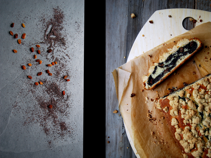 German Poppy Seed Strudel with Cinnamon Crumbles