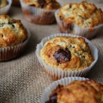 White and Dark Chocolate Banana Muffins