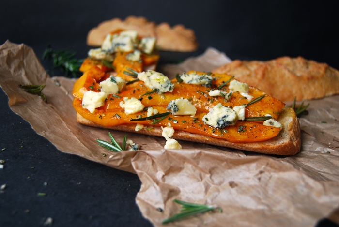 Butternut Squash, Stilton and Rosemary Bun