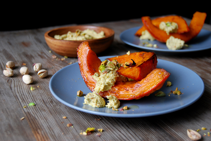Oven Roast Pumpkin with Pistachio Feat Cheese