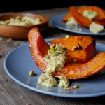 Oven Roast Pumpkin with Pistachio Feta Cheese