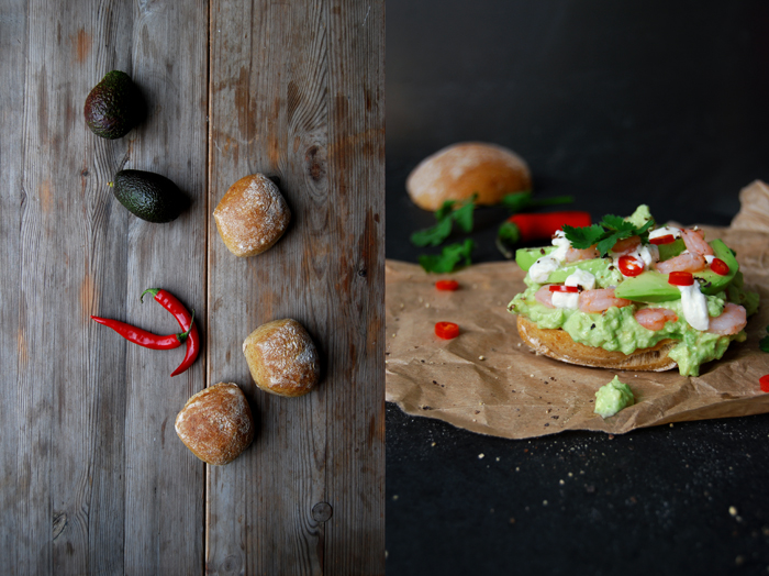 Shrimp Sandwich with Cumin Guacamole