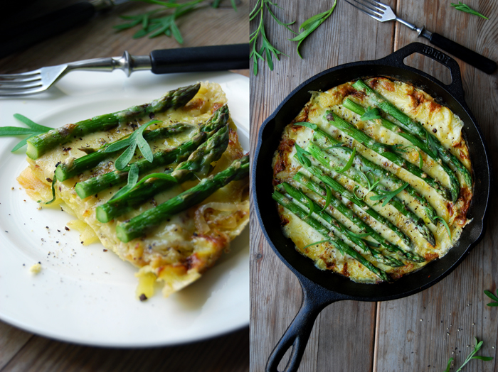 Asparagus Tortilla with Mountain Cheese and Tarragon