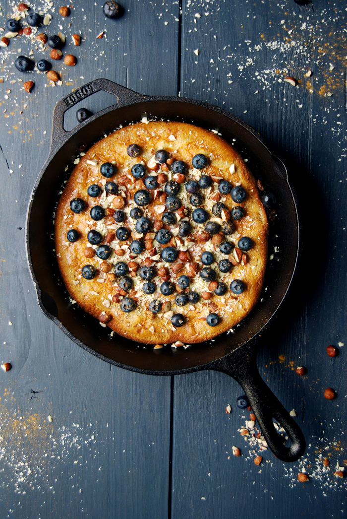 Buckwheat Dutch Baby with White Chocolate, Blueberries and ...