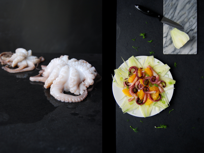 Octopus, Fennel and Orange Salad
