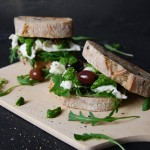 Spinach Rucola Pesto and Mozzarella di Bufala Sandwich