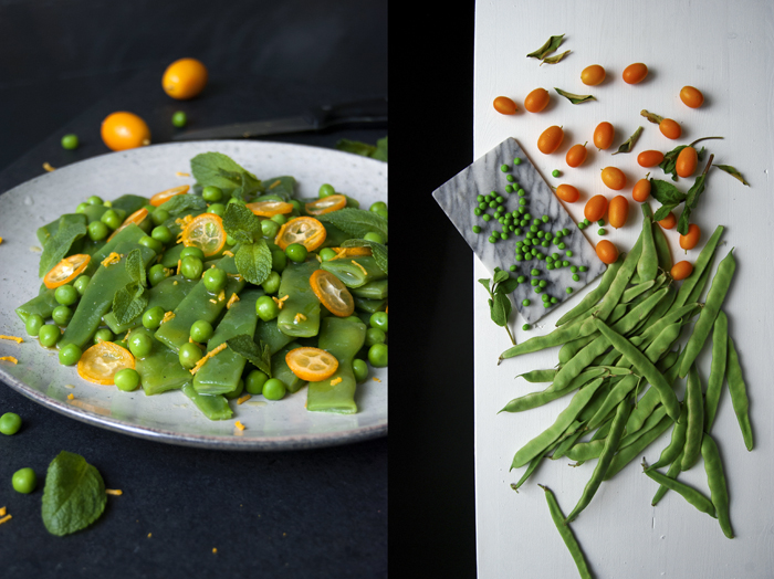 Green Bean, Pea and Kumquat Salad with Mint