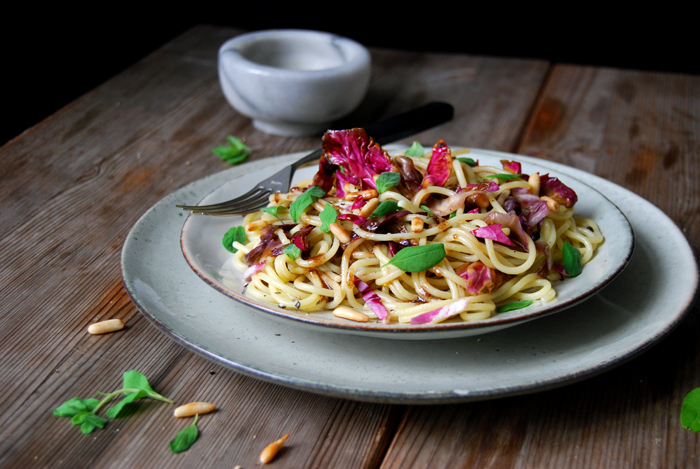 Radicchio, Balsamic Butter and Marjoram Pasta