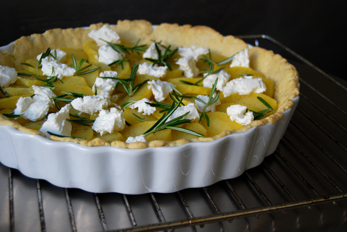 Potato, Chèvre and Rosemary Tart