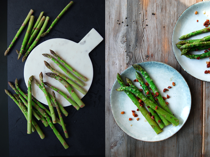 Asparagus with Crisp Balsamic Bacon