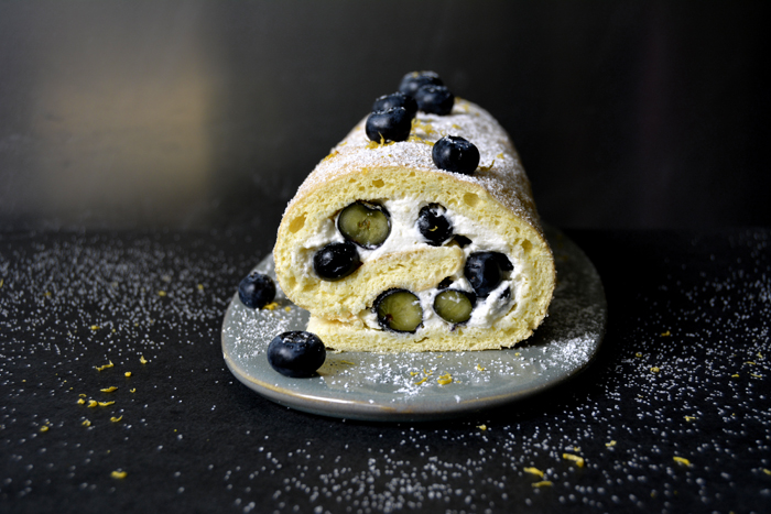 Blueberry Lemon Swiss Roll