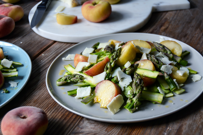 Asparagus Salad with Pear, Orange Blossom and Pecorino