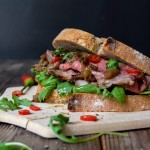 Roastbeef and Rhubarb Chutney Sandwich