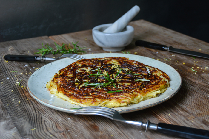 Lemon Rosemary Potato Roesti