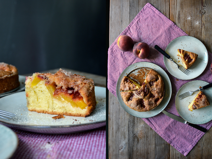 Cinnamon Peach Breakfast Cake