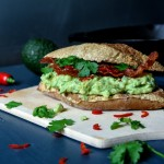Guacamole and Bacon Sandwich