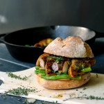 Bean, Sausage and Pear Mustard Sandwich
