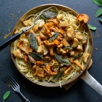 Porcini and Chanterelles Pasta with Orange and Sage