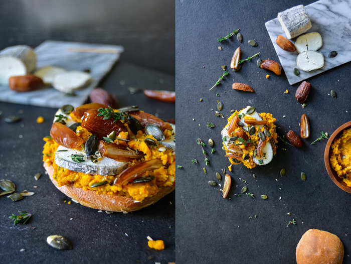 Pumpkin Pesto, Date and Aged Chèvre Sandwich