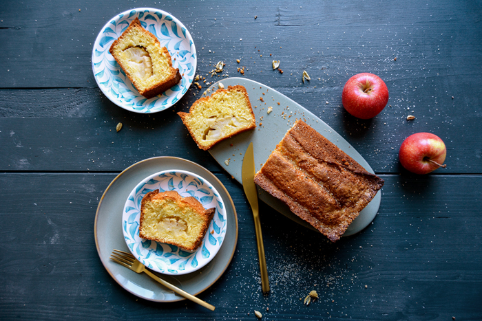 Sunken Cardamom Apple Cake