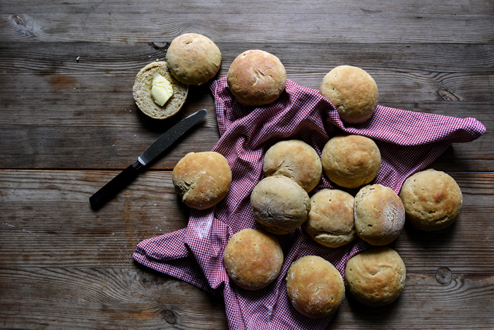 Autumn Buns with Mushroom, Potatoes and Thyme