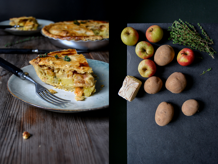 Potato, Apple and Taleggio Pie
