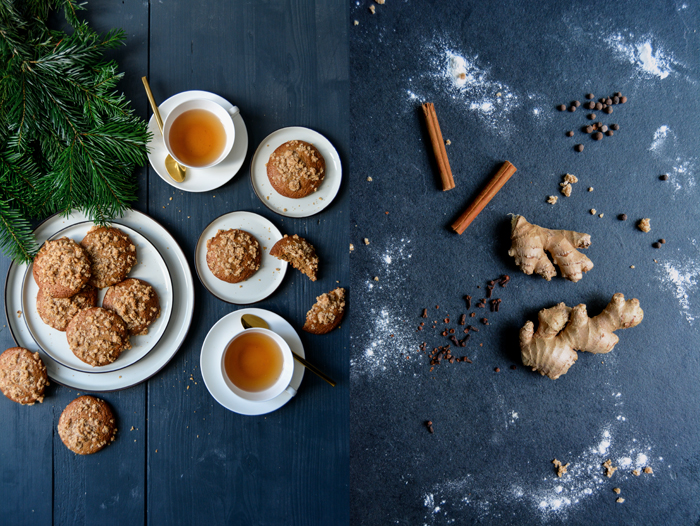 Ginger Spice Cookies with Cinnamon Oat Crunch