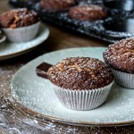 Chocolate Muffins filled with Peanut Butter