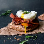 Sweet Potato, Bacon and Poached Egg Sandwich