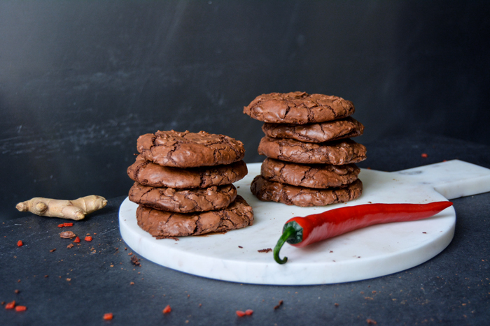 Ginger Chili Double Chocolate Cookies