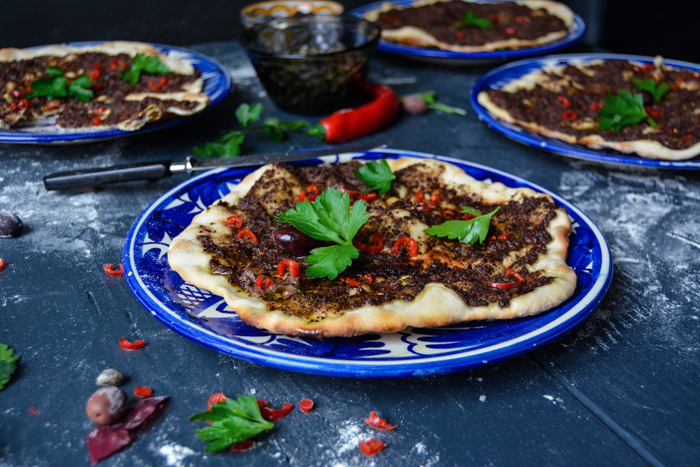 Pide Pizza with Provençal Olive Tapenade