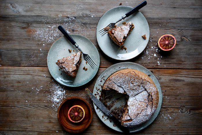 Spanish Almond Tart with Blood Orange