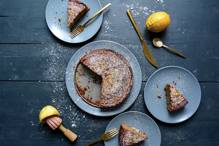 Polenta-Almond Cake with Poppy Seeds and Lemon