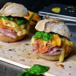 Grilled Persimmon, Ham, and Cheese Sandwich