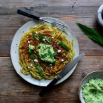 Swiss Potato Roesti with Ramp Feta Dip