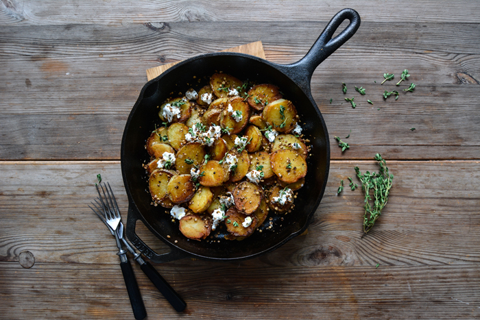 Coriander Potatoes with Chèvre