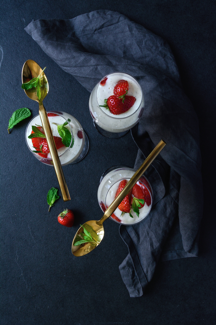 Strawberry Mascarpone Panna Cotta